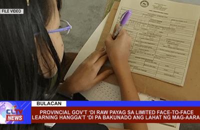 Provincial Gov't 'di raw payag sa limited face-to-face learning hangga't 'di pa bakunado ang lahat ng mag-aaral