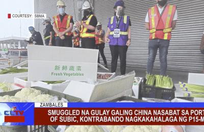 Smuggled na gulay galing China nasabat sa Port of Subic, kontrabando nagkakahalaga ng P15-M