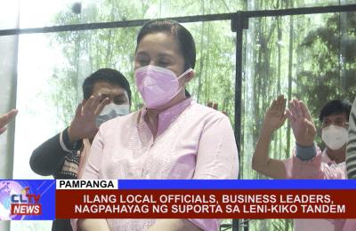 Ilang local officials, business leaders, nagpahayag ng suporta sa Leni-Kiko tandem