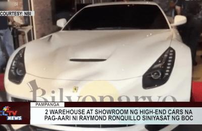 2 warehouse at showroom ng high-end cars na pag-aari ni Raymond Ronquillo siniyasat ng BOC